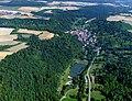 Die Creglinger Münsterseen sind ein attraktives Naherholungsgebiet. Luftaufnahme.jpg
