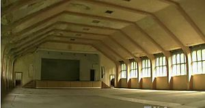 Wustermark - Interior of the dining hall for the 1936 Summer Olympics, unrestored as of 2012.