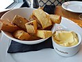 Dinner at the Greenbank Hotel, Falmouth, Cornwall - Home cut chips with aioli (42692838561).jpg