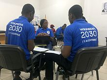 Discussions en atelier Wikimedia 2030 Meet-up in Abidjan 7.jpg