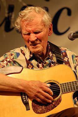 Doc Watson at Sugar Grove Music Festival in 2009}
