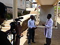 Doctor John Materu, telemedicine expert at Kibosho Hospital interviewed. (5349027854).jpg