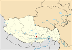 Location of Doilungdêqên County within Tibet