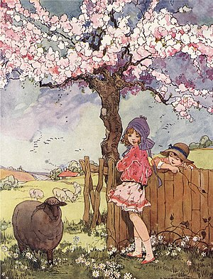 Baa, Baa, Black Sheep - The rhyme as illustrated by Dorothy M. Wheeler