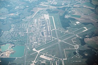 Dover Air Force Base - Aerial view of Dover Air Force Base in 1995