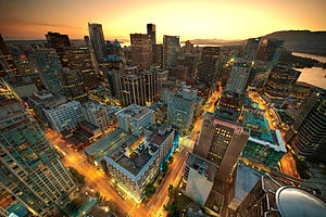 ונקובר: Downtown Vancouver Sunset