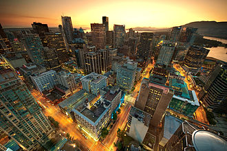 Vancouver - Downtown Vancouver as seen from the Harbour Centre