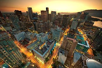 English: View of downtown Vancouver from the L...