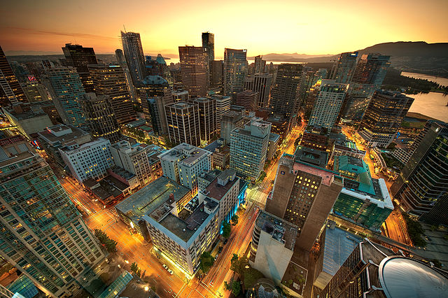 Downtown Vancouver By MagnusL3D (http://www.flickr.com/photos/magnusl3d/6044910841/) [CC-BY-SA-3.0 (http://creativecommons.org/licenses/by-sa/3.0)], via Wikimedia Commons
