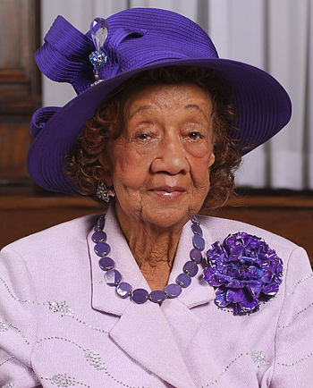 English: Portrait of Dr. Dorothy Height taken ...