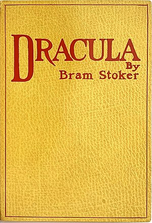 Gaslamp fantasy - First edition cover of Bram Stoker's ever-popular vampire novel, Dracula, a common reference for gaslamp fantasy literature.