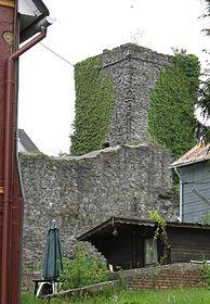 Reste der Oberburg im Ortskern von Driedorf