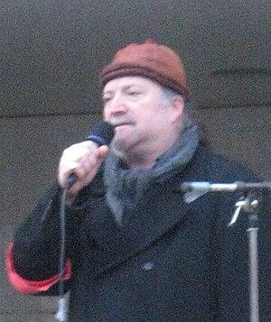 English: Dror Feiler speaking in Stockholm, Sw...