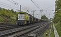 Duisburg ABZW Lotharstrasse Captrain V157 met Habbins schuifwandwagens (34267352632).jpg