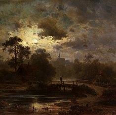 Landscape by moonlight.