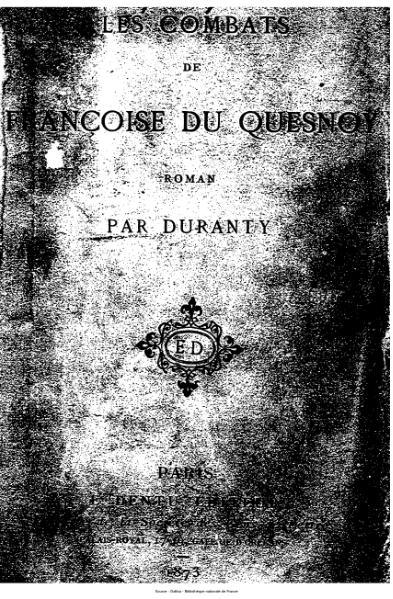 File:Duranty - Les Combats de Françoise du Quesnoy.djvu