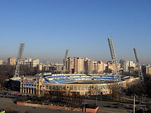 FC Dynamo Moscow - View of the historical Dynamo Stadium, home of Dynamo from 1928 to 2008. In 2011, it was demolished in preparation for a new stadium to be built, which will be known as the VTB Arena.