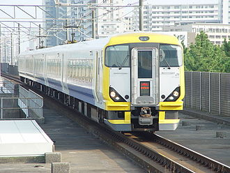 Uchibō Line - An E257-500 series EMU on a Sazanami service in October 2006