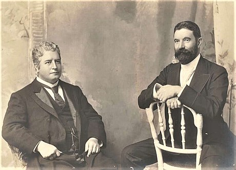 Edmund Barton and Alfred Deakin, 1st and 2nd Prime Minister of Australia both had English parents. EBarton2.jpg