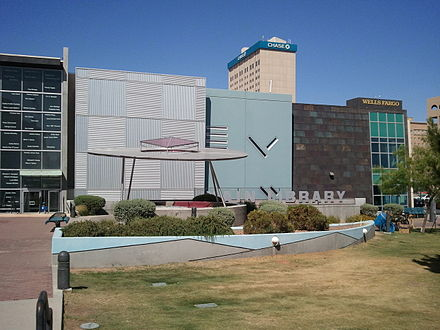 Cleveland Square in downtown El Paso is where many of the festivals are held annually. EP Public libray.jpg