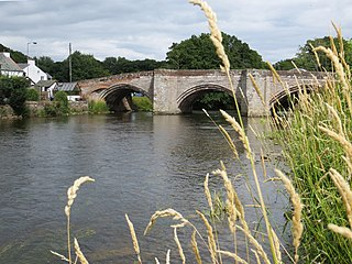 Eamont Bridge village immediately to the south of Penrith, Cumbria