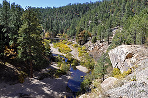 Clear Creek (East) - East Clear Creek at Forest Road 95