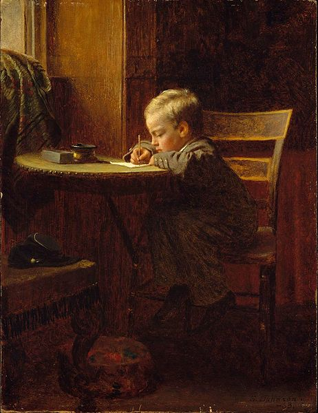 https://upload.wikimedia.org/wikipedia/commons/thumb/b/ba/Eastman_Johnson_-_Writing_to_Father.jpg/462px-Eastman_Johnson_-_Writing_to_Father.jpg