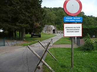 Fort Eben-Emael - Entrance area, July 2007