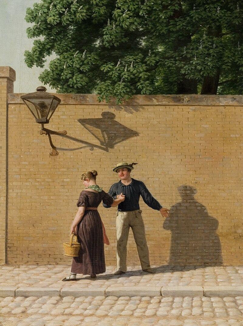 Eckersberg, Christoffer Wilhelm - Sailor taking Leave of His Girlfriend - Ribe Kunstmuseum.jpg