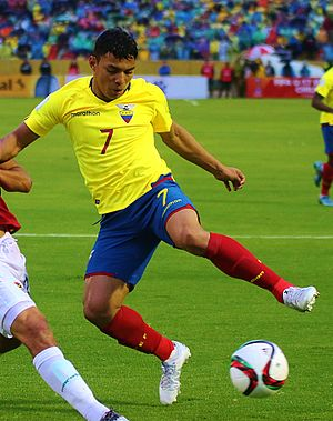 Jefferson Montero - Montero playing with Ecuador in 2015