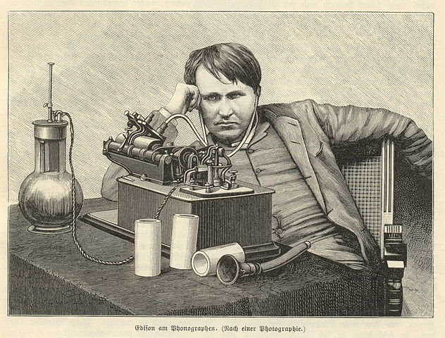 Thomas Edison via https://commons.wikimedia.org/wiki/File:Edison.jpg