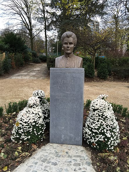 Edith Cavell (Uccle 2015), by Nathalie Lambert Edith Cavell - Uccle.jpg