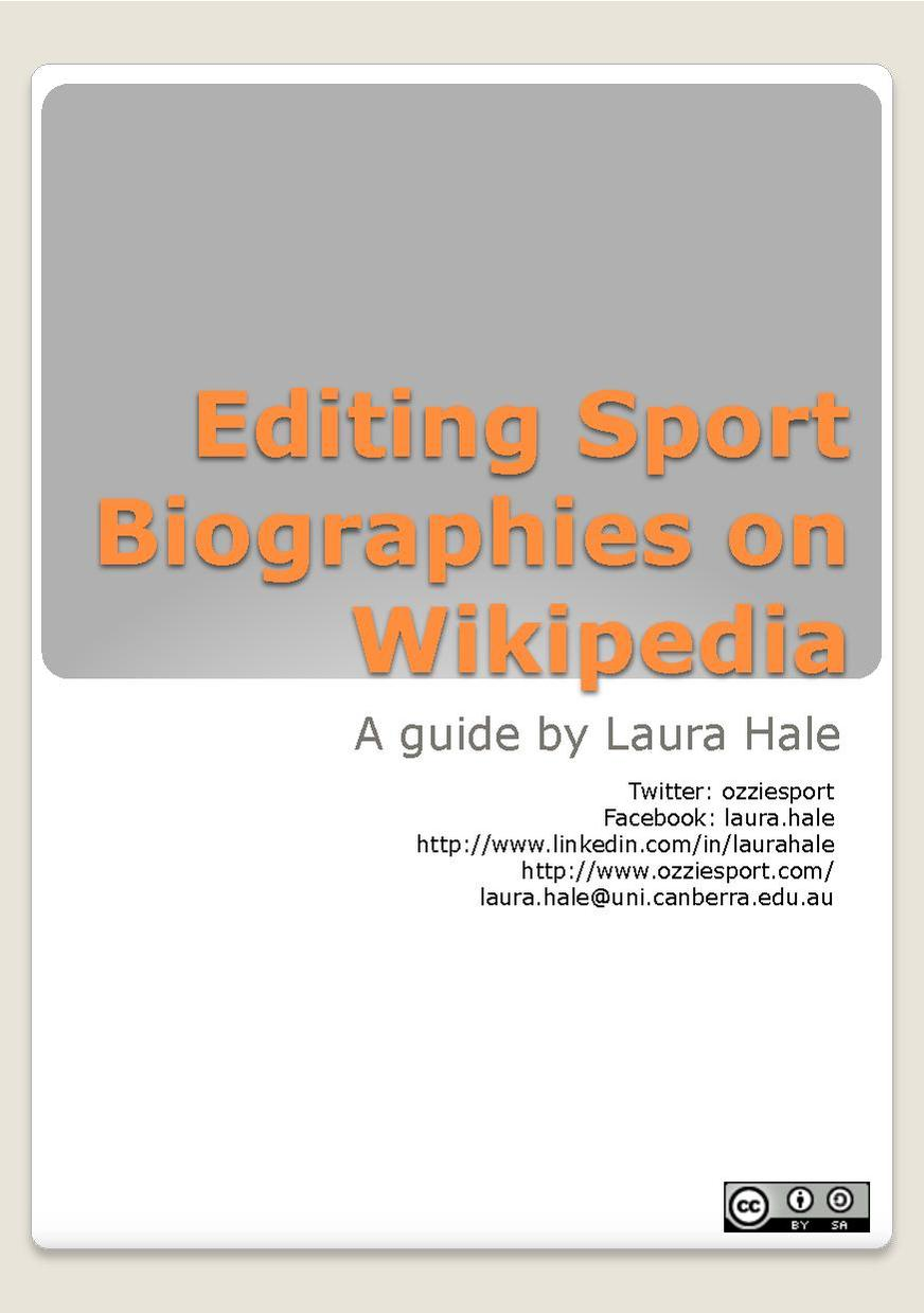 Editing Sport Biographies on Wikipedia.pdf