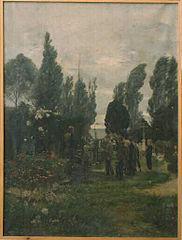 Enterrement d'un enfant à Villerville