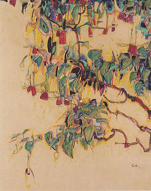 Egon Schiele - Sonnenbaum - 1910