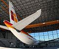 El Airbus A340-300 EC-KOU, dentro del nuevo hangar de Iberia.jpg