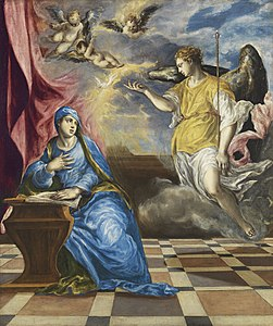 El Greco (Doménikos Theotokópoulos) - The Annunciation - Google Art Project.jpg