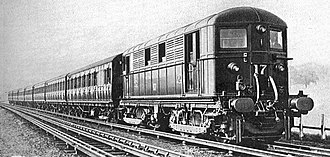 Metro-land - Metropolitan Railway electric locomotive and train (c.1928)