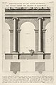 Elevation and plan of the second-order portico at the Theater of Marcellus (Teatro di Marcello), Rome, from the series 'Le Antichità Romane' MET DP831899.jpg