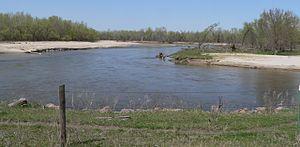 Elkhorn River - The Elkhorn River in Antelope County, Nebraska