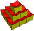 Elongated dodecahedron concave honeycomb.png