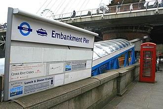 Embankment Pier - The entrance to Embankment Pier