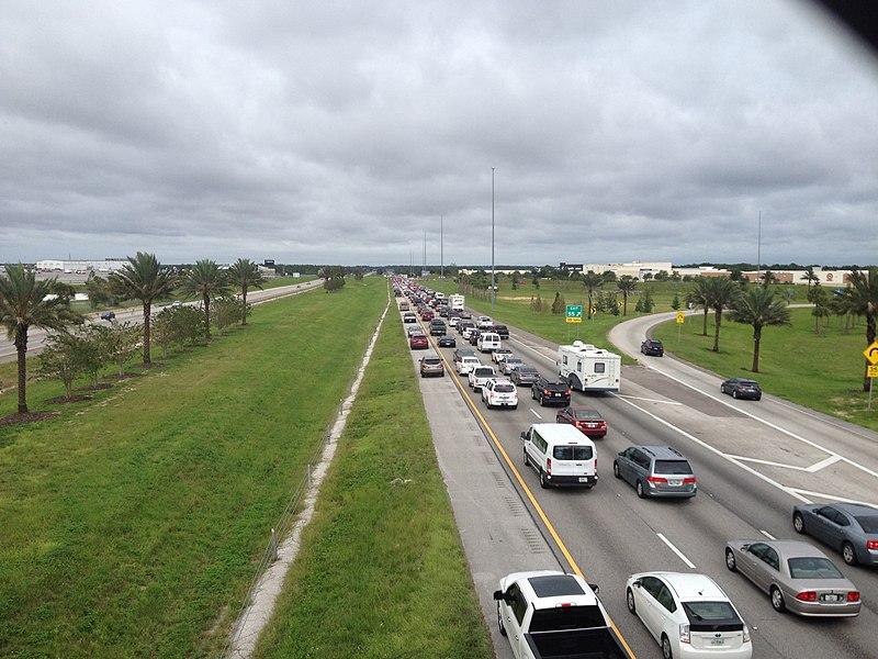 Emergency shoulder use Interstate 4 before Hurricane Irma 6.jpg