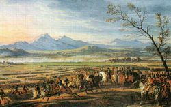 Battle of Wagram by Emil Adam. Vukassovich was fatally wounded in the Wagram bloodbath.