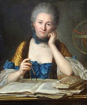 Émilie du Châtelet - Portrait by Maurice Quentin de La Tour