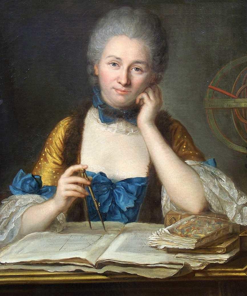 Emilie Chatelet portrait by Latour