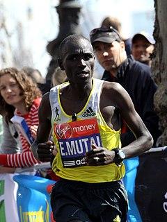 Emmanuel Kipchirchir Mutai Kenyan marathon runner