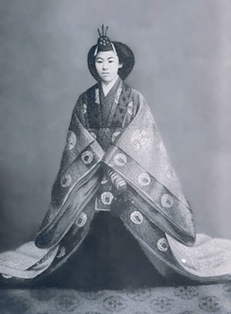 Empress Teimei - Image: Empress Teimei at enthronement in 1912