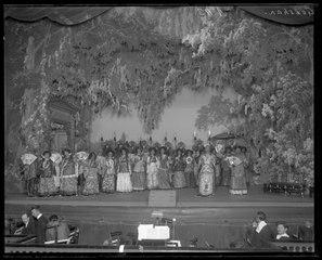 En smekmånad i Kina, Operett-teatern 1909. Föreställningsbild