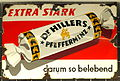 Enamel advertising sign, Dr Hillers Pfefferminz.JPG